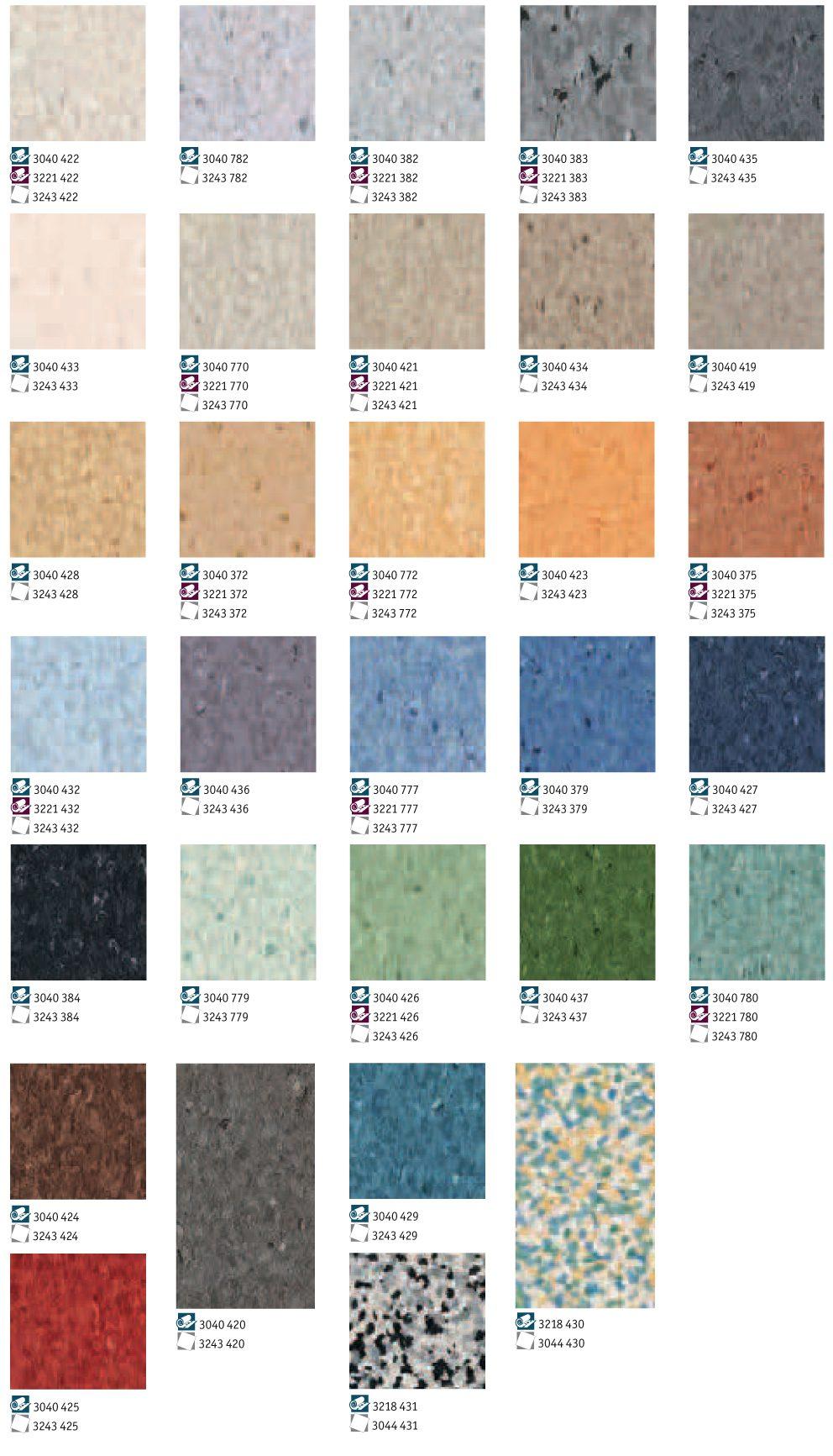 Еднослойни гъвкави настилки Iq Granit Tarkett за
