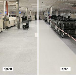 Реновиране на електропроводими (кондуктивни, ESD) подове