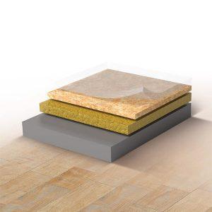 Heterogeneous vinyl flooring